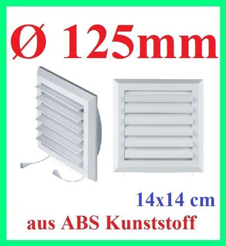 Awenta grille d'aération/moustiquaire ø 125 mm ventilateur t78 store