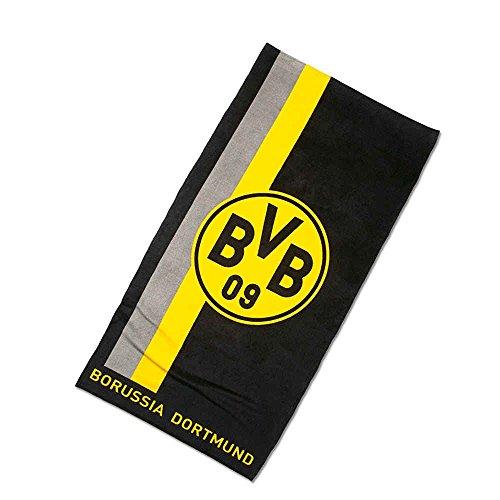 Borussia Dortmund BVB 09 BVB-handdoek met logo in strepen