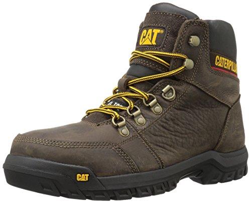 Caterpillar Men's Outline Steel Toe Work Boot, Seal Brown, 10 W US