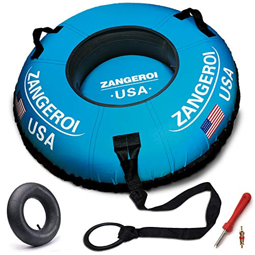 ZANGEROI Snow Tube Snow Tube Sled for Kids and Adults 50' Snow Sleds Heavy Duty with Handles and...