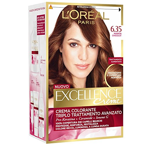 3 x L'Oreal Excellence Creme 6.35 Marron Chocolat Haarfarbe