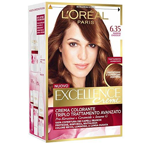 3 x L'Oréal Excellence Crème 6.35 Marron Chocolat Coloration pour cheveux