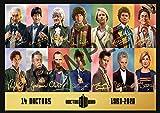 Poster mit Autogramm von The 14 Doctors Who Played Doctor