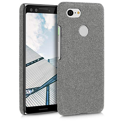 kwmobile Hardcase Cover for Google Pixel 3 - Covercase in Canvas Light Grey