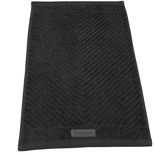Ross Uni-Rippe Handtücher Smart Schiefer, Duschtuch 70x140 cm