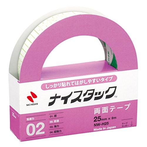 ニチバン 両面テープ ナイスタック しっかり貼れてはがしやすいタイプ 25mm NW-H25