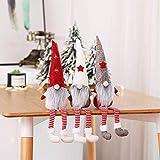 MU2827924 Langer Hut Plüsch Weihnachtszwerg Puppe Dekoration Weihnachtsmann-Figur Puppe Plüsch Elf Spielzeug 3 Stück,3pcs - 4