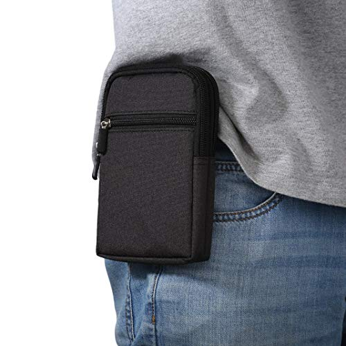 Sacchetto Clip da Cintura, Borsa da Uomo Sacchetto per Cellulari, 6.3 pollice Cellulare Borsello Clip Cintura di Sport Borsetta Portafoglio Campeggio Viaggio Borsa da Cintura Telefono Case Custodia