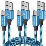 Baiwwa Lot de 3 câbles USB de type C, câble de chargement rapide USB A vers USB C en nylon tressé...