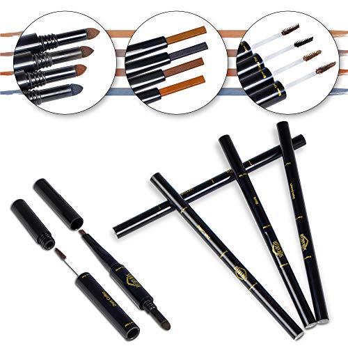 Somariah 3 in 1 Waterproof Brow Pencil, Eyebrow Filler and Eyebrow Mascara/Tint Gel. Defines, Fills, Enhances, Tints and Set Eyebrows. (Dark Brown)