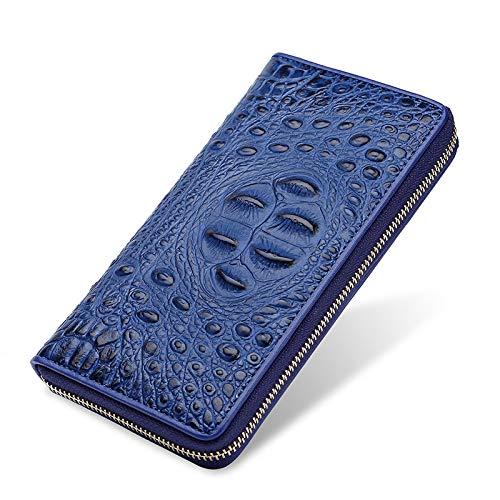 HANGYIKJ Herren Portemonnaie große Kapazität lässig Reißverschluss Lange Brieftasche Clutch Bag tragbare Multi-Card-Brieftasche