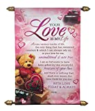 Ideal For Special One Surprise Your Dear One With This Scroll Card, Giving Them Wonderful Memory. Dimension: Height- 40 x Width - 24 x Length - 1 cm Beautiful Scroll Card with Love Message Sales Package: 1 Scroll Card