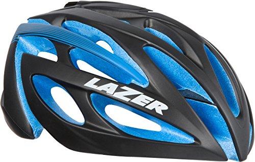 Lazer Casco O2DLX, Todo el año, Unisex, Color Negro y Azul, tamaño M L
