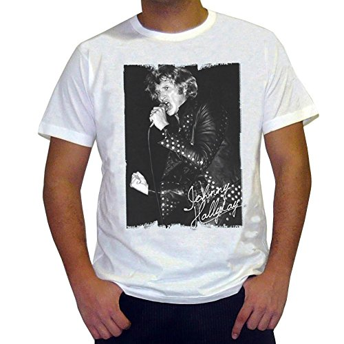 One in the City Johnny Hallyday: Men's T-Shirt Picture Celebrity