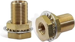 Boeray 2pcs Brass Pipe Fitting 1/4