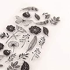 Flowers Leaves Feather Dandelion Stamps Rubber Clear Stamp/Seal Scrapbook/Photo Decorative Card Making Clear Stamp #2