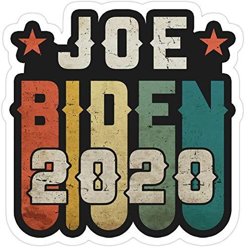 DKISEE Lote de 3 pegatinas troqueladas vintage Joe Biden Joe 2020 Biden 2020 1970 70S para ventana de ordenador portátil, coche, parachoques, casco, botella de agua de 4 pulgadas