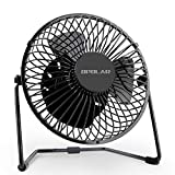 OPOLAR 5 Inch USB Fan, Portable Small Desk Fan with 2 Speed Settings, Super Quiet, Metal Design, 360 Rotation and Adjustable, Personal Mini Table Fan Perfect for Home, Office Tabletop