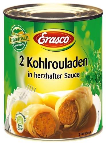 Erasco 2 Kohlrouladen in Pikanter Sauce, 6er Pack (6 x 800 g Dose)