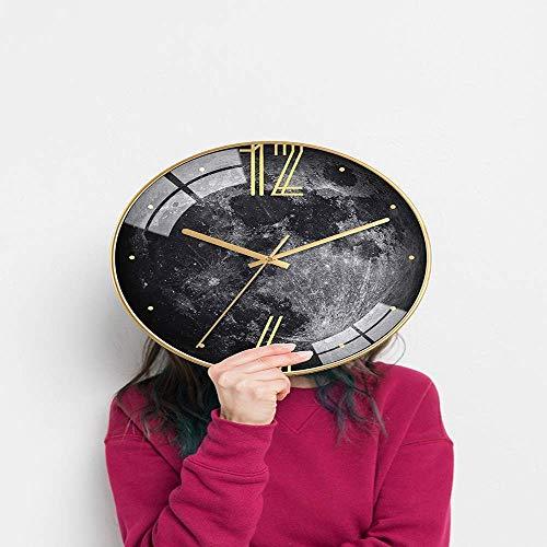 DIEFMJ Personalidad Relojes de Moda creativos Moderno Minimalista Sala de Estar Mesa Ambiente del hogar Reloj silencioso Reloj de Bolsillo 12 Pulgadas (Color: Blanco)