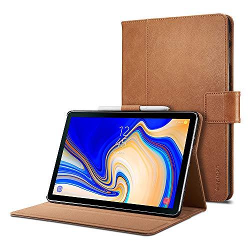 Spigen Stand Folio Designed For Samsung Galaxy Tab S4 Case - Brown