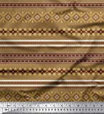 Soimoi Braun Seide Stoff aztekisch südwestlich Stoff