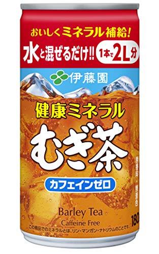 スマートマットライト 伊藤園 健康ミネラルむぎ茶 希釈用 (缶) 180g ×30本 デカフェ・ノンカフェイン