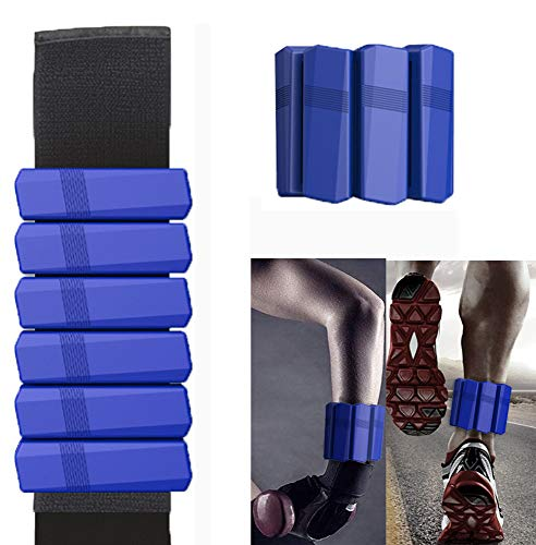 Adjustable Ankle Weights Set 1lb Each Wearable Wrist Weight for Women Men for Walking Yoga Gym Fitness Exercise Pilates Blue