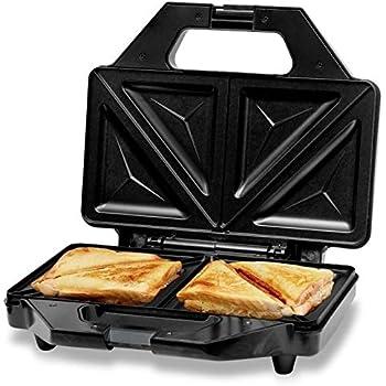 KATTICH 1000-Watt Sandwich Maker With Fixed Non Stick Plates, Silver
