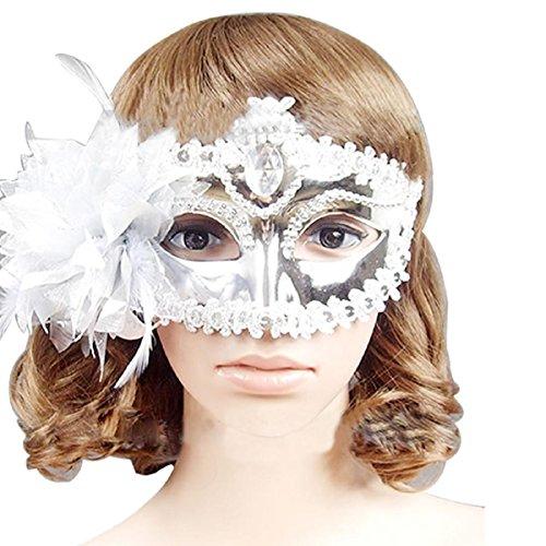 Oyedens Rhinestone -Diamantvenezianischen Stil Maske KostüM Maskerade