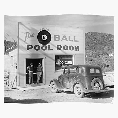 Generic Billiards Saloon Pool Room Hall California Poker Bar Home Decor Wall Art Print Poster !