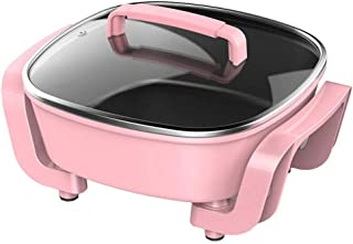 ZOUJUN Multi-électrique Wok Fonction Ménage Poêle électrique Barbecue Hot Pot Cuisinière électrique intégré Pot Hot Pot Ba...