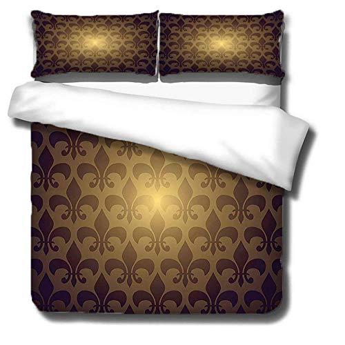 Three-piece bedding set that can be DIY customized Juego de cama funda nórdica de y funda de almohada Diseño de apertura y cierre de cremallera invisible, no es fácil de dañar.,135x200(53x79in