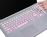 HülleBuy Tastaturschutz für Lenovo IdeaPad 320/330/330s 39,6 cm (15,6 Zoll), IdeaPad 320/330 17,3 Zoll, IdeaPad 520 15,6 Zoll Laptop, ultradünn, Staubschutz Gradual Pink