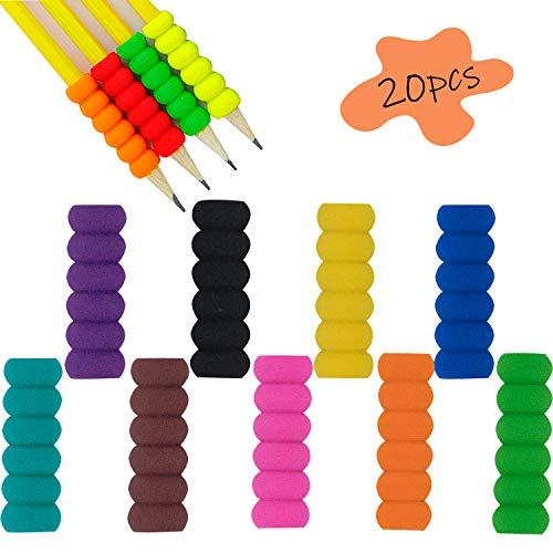 20 Stücke Bleistift Grips Komfort zu halten Schaumstoff Steile Bleistiftgriffe Schreibhilfe für Stift Kinder Stifthalter Ergonomische Schreibhilfe für Stift Bleistift Halter für Haltungskorrektur