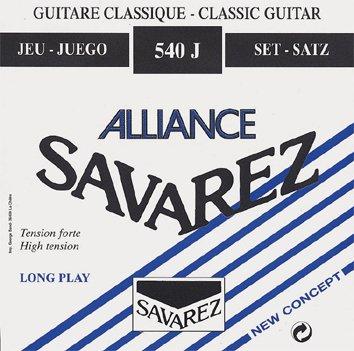 Juego de cuerdas Savarez Alliance 540J azul. Tensión alta