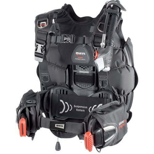 Mares Hybrid Pure BCD With MRS Weight Pockets (X-Small/Small, Black) by Mares