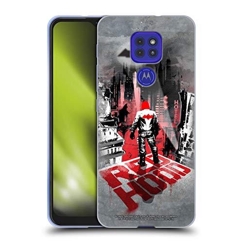 Head Case Designs Oficial Batman: Arkham Knight Capucha Roja Gráficos Carcasa de Gel de Silicona Compatible con Motorola Moto G9 Play