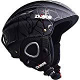 ZIONOR Lagopus H1 Ski Snowboard Helmet for Men Women - Air Flow Control Adjustable Fit Crack