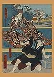 ZSHSCL Impresiones sobre Lienzo,Vintage Ukiyoe Japonés Antiguo Arte Guerrero De La Pintura sobre Lienzo Sin Bastidor De Gran Tamaño Póster De Arte De Pared De Imagen para El Dormitorio Habitaci