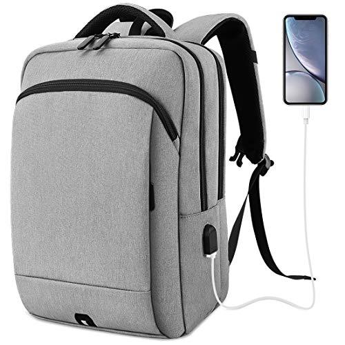 NUBILY Mochila Ordenador Portail Hombre 15.6 Pulgadas con Puerto USB Mochilas Portátil