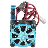 DAUERHAFT Moteur radiateur Ventilateur de Refroidissement Moteur radiateur Pince Forme exécution exquise avec capteur Thermique pour 540550 3650 3660 Voiture modèle RC(Blue)