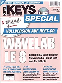 Keys Special mit Wavelab LE 8 Vollversion auf Heft-CD