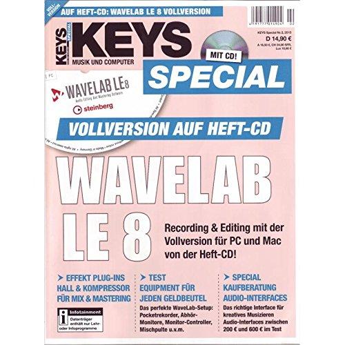 Keys Special mit Wavelab LE 8 Vollversion auf Heft-CD