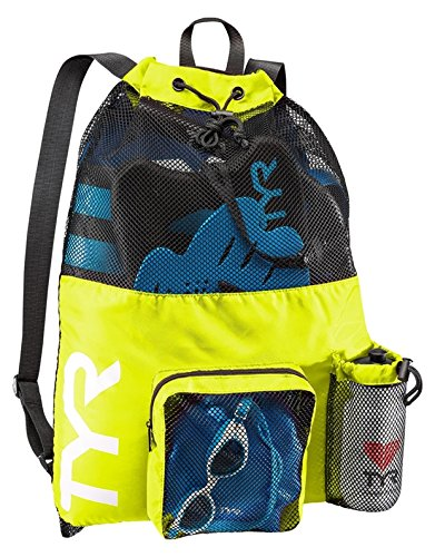 TYR(ティア) プールバッグ BIG MESH MUMMY BACKPACK F.YL(730) LBMMB3 イエロー FREE