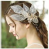 HONEY BEAR donna clip pettine per capelli,gioielli da sposa,accessori per capelli sposa,gioielli a forma di fiore con finte perle e strass (La farfalla)