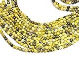 Jaipur Gems Mart AAA Natural 1 hebra de Piedras Preciosas Perlas Serpentina para Hacer la joyería | 10 mm Alrededor de Granos | Serpentina los Granos Flojos Redondos Lisos | Strand 15'