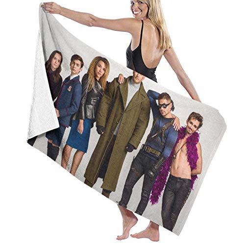 The Umbrella Academy Toalla de playa cómoda de fibra superfina ligera y rápida absorción de agua de gran tamaño toalla de baño familiar baño piscina toalla de playa 80 x 130 cm
