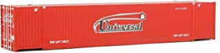 Walthers SceneMaster HO Scale Model of  Universal (red, White) 53' Singamas Corrugated Side Container