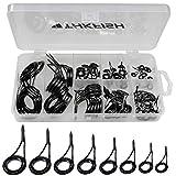 THKFISH Kit de réparation de Canne à pêche en céramique et Acier Inoxydable et Carbone 35 pièces, 75pcs Rod Repair Kit